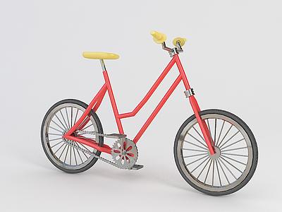 3d<font class='myIsRed'>紅色</font>自行車模型