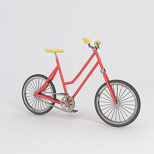 紅色自行車模型