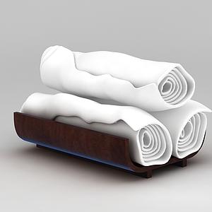 一次性毛巾模型