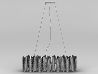 3d創意排簫吊燈模型