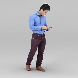 襯衣男人模型