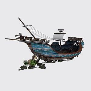 復古木帆船模型