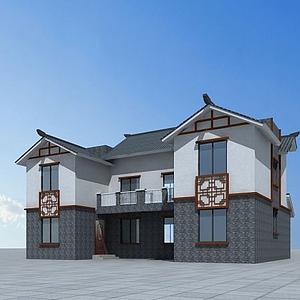 3d中式別墅<font class='myIsRed'>房子</font>模型