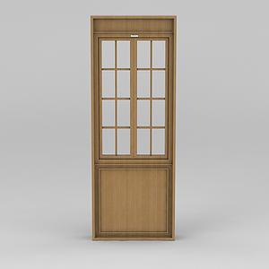 實木門窗模型
