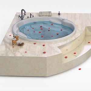 高檔圓形浴缸模型