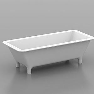 獨立浴盆模型