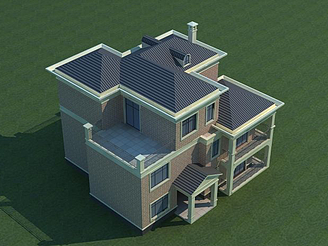 漂亮小別墅模型