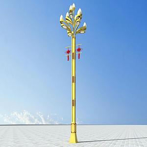 藏式路燈模型