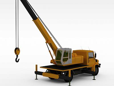 3d車拉式吊車模型