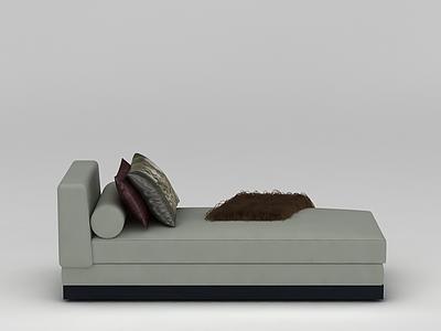 灰色皮革沙發模型3d模型