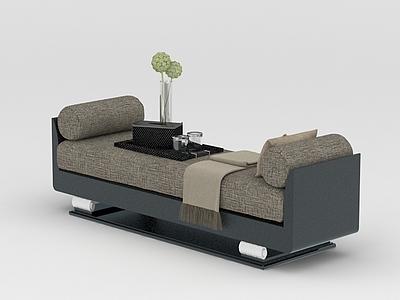 新中式沙發床榻模型3d模型