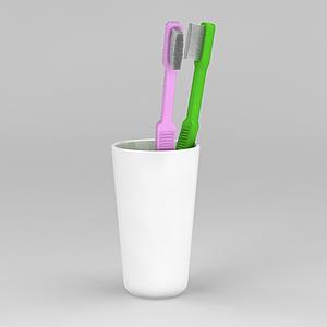 情侶牙具模型