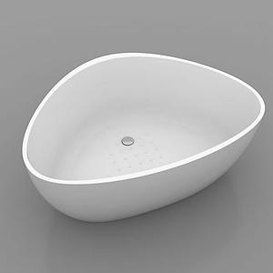 三角形浴缸模型