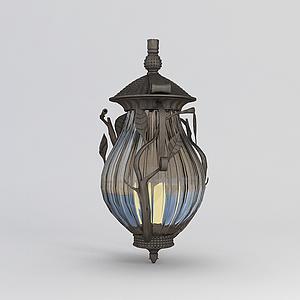 歐式庭院燈模型