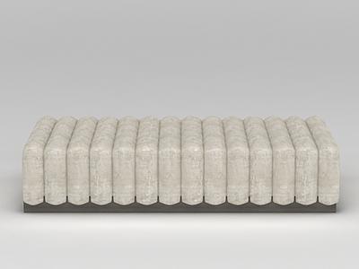 米色創意沙發模型3d模型