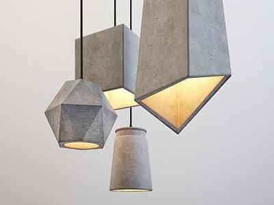 3d創意飯廳吊燈模型