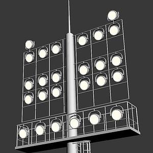 室外場館照明燈模型
