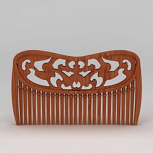 木紋梳子模型