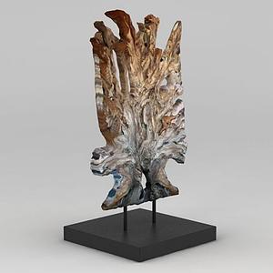 原木裝飾擺件模型