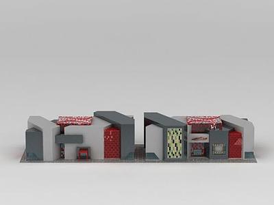 3d現代活動中心模型