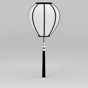 3d中国风吊灯模型