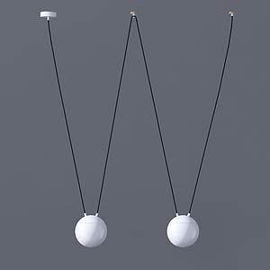 現代W型吊燈模型