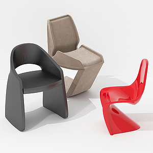 簡歐式休閑小單椅模型