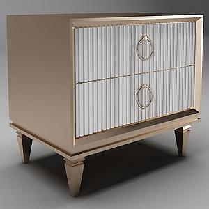 簡歐邊柜裝飾柜邊柜模型