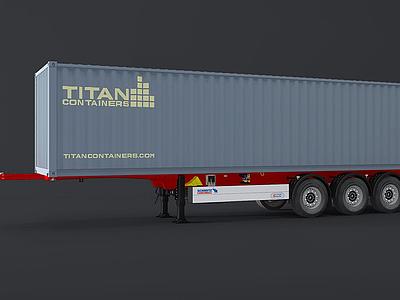 貨柜車模型3d模型