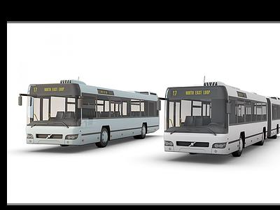 公交車模型3d模型