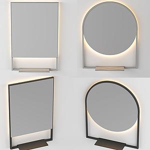 簡歐小鏡子模型