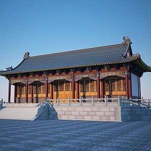 古建大殿模型