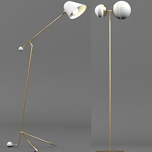 現代北歐式簡約落地燈模型