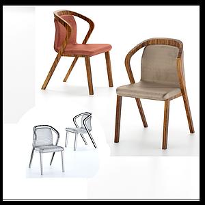 簡歐現代化休閑室內椅模型