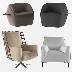 現代舒適休閑室內椅模型