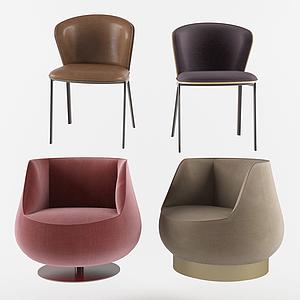 現代休閑椅單人沙發模型