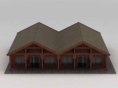 3d木屋<font class='myIsRed'>房子</font>模型
