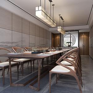 中式會議室模型