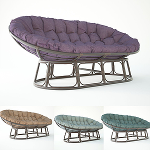 簡歐特休閑風格懶人椅模型