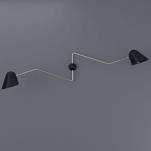 現代簡約v型吊燈模型