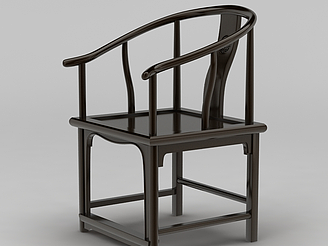 中式古典圈椅模型