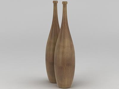 創意簡約木頭擺件模型3d模型