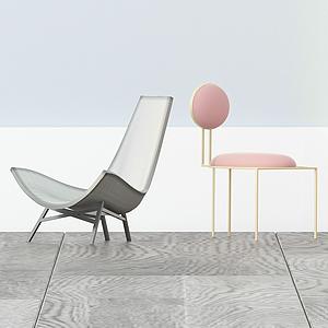 現代休閑家居椅模型