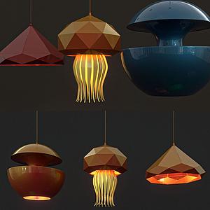 現代色彩不規則吊燈模型
