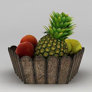 3d<font class='myIsRed'>水果</font>盤模型