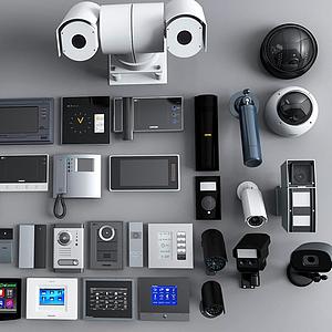 3d监控设备摄像头模型