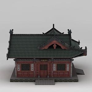 3d中国古代书院模型