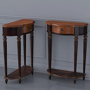 美式復古邊柜裝飾柜模型
