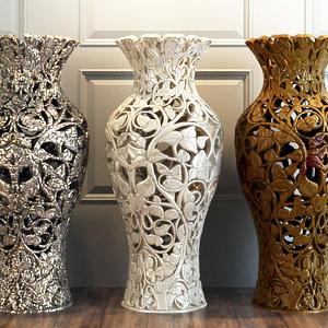 雕花鏤空大花瓶模型