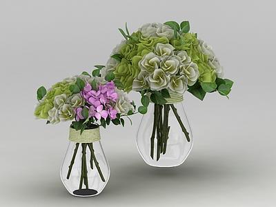 鮮花花瓶裝飾模型3d模型